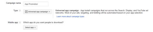 Universal App Campaign