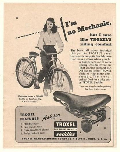 1947 Troxel Bike Saddle Seat Excelsior