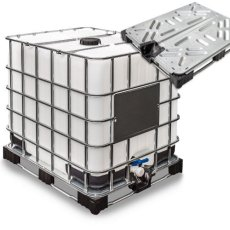 IBC Tank 1000lt with Metal-Plastic pallet (new)