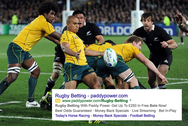 Rugby world cup gambling charlestown races and slots hollywood casino