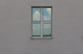 one window in a wall