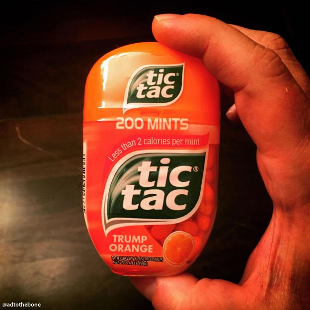 Trump Orange Tic Tac