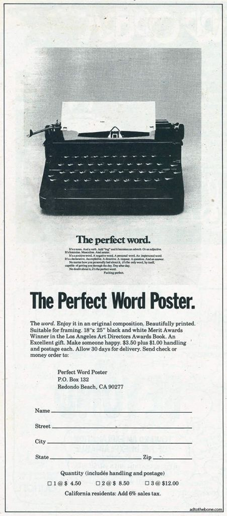 The Perfect Word Poster.