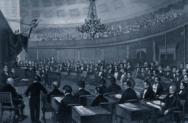 Old-Timey US Senate Chamber