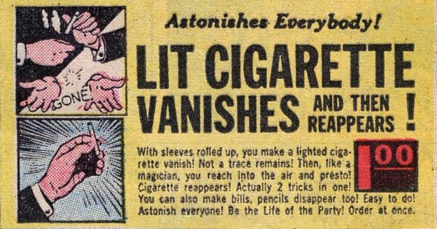 Lit Cigarette Vanishes and then reappears!