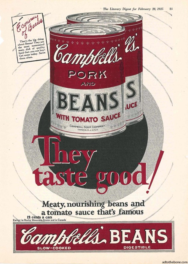 1925 Campbell's Pork and Beans with Tomato Sauce ad