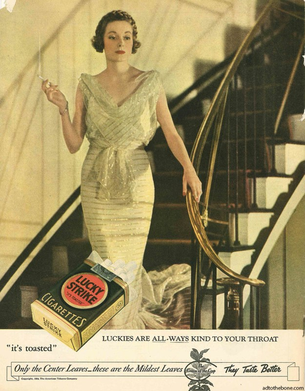 1934 magazine ad for Lucky Strike Cigarettes