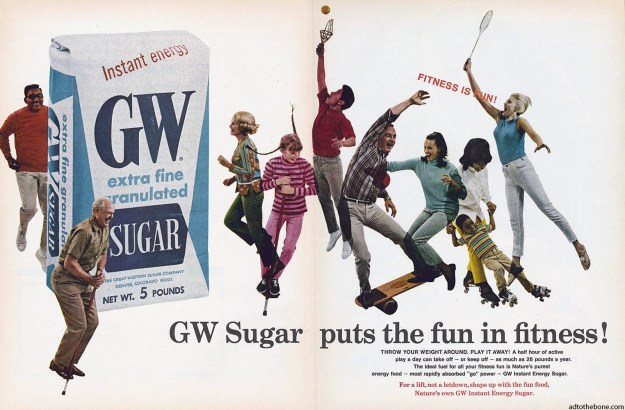 A 1969 double truck magazine ad for GW Energy, err, GW Sugar