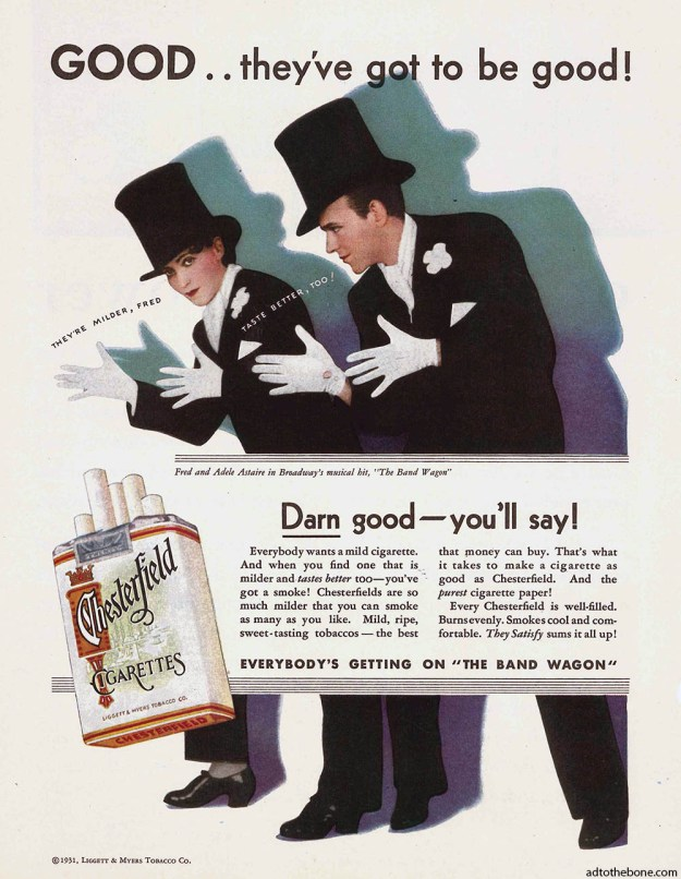 Chesterfield cigarettes magazine ad found in the September 5, 1931 issue of The Literary Digest