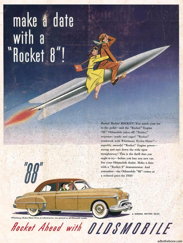 Magazine ad for the 1950 Oldsmobile Rocket 88
