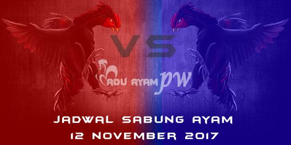 jadwal sabung ayam 12 November 2017