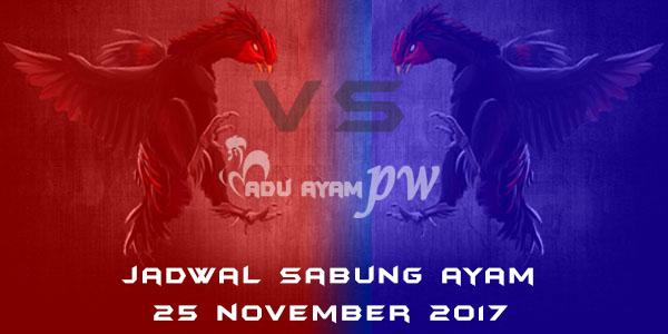 jadwal sabung ayam 25 November 2017