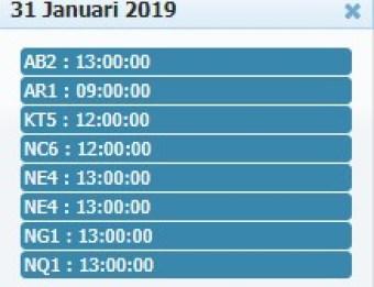 Jadwal Sabung Ayam 31 Januari 2019