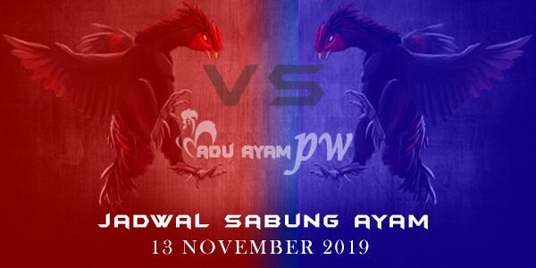 List Jadwal Pertarungan Sabung Ayam 13 November 2019