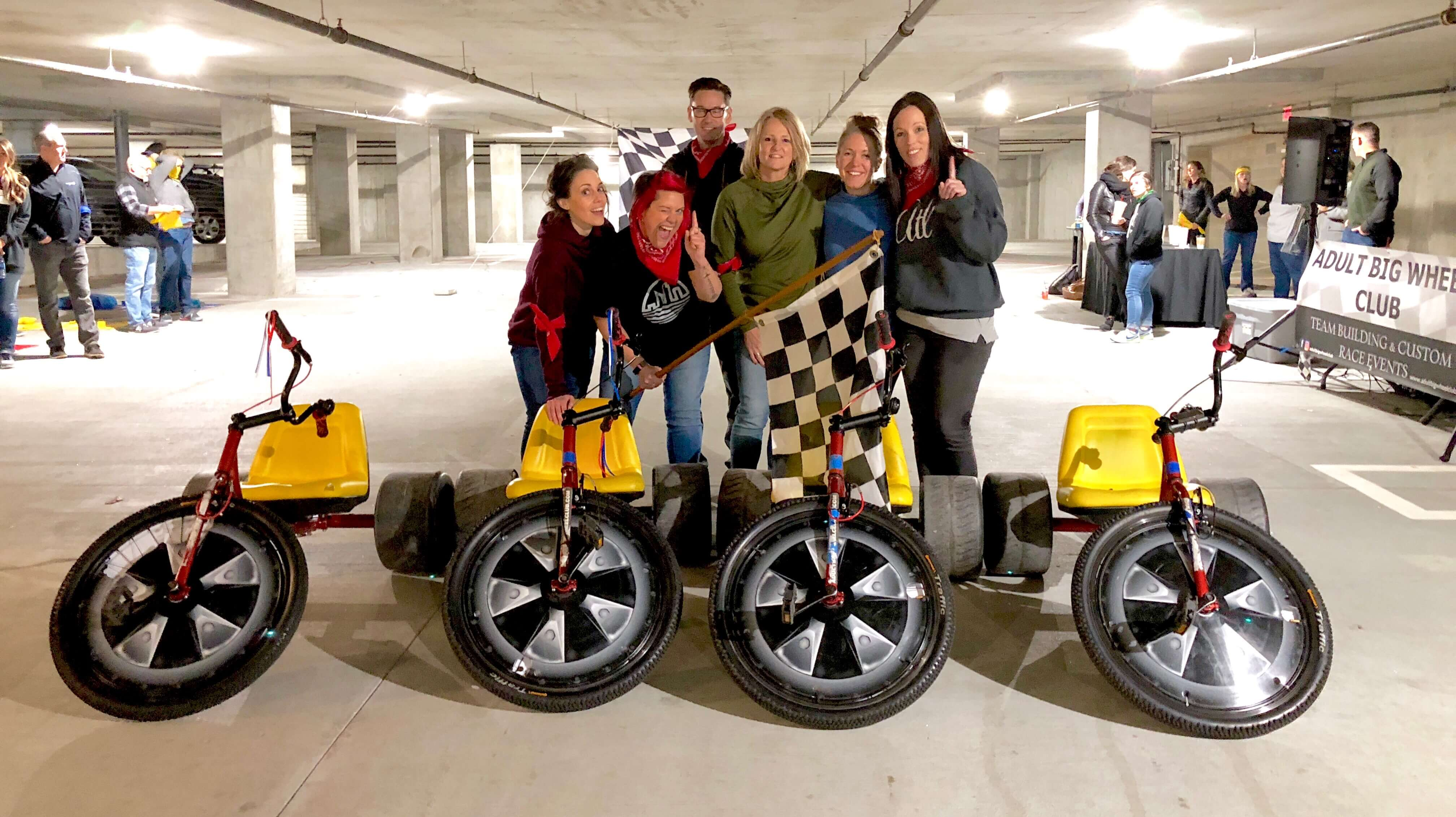 great team building event for church in Atlanta , rain didn't stop us , we used the parking garage !