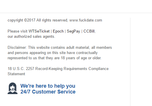 Fuckdate.com verified payment