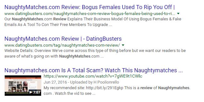 NaughtyMatches.com bad reviews