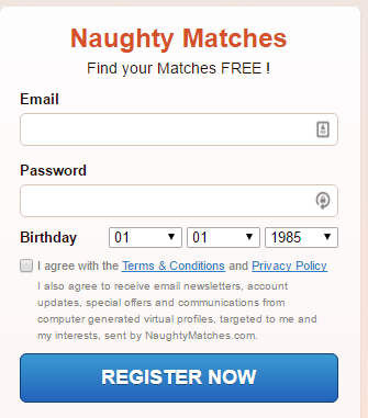 NaughtyMatches.com computer-generated profiles
