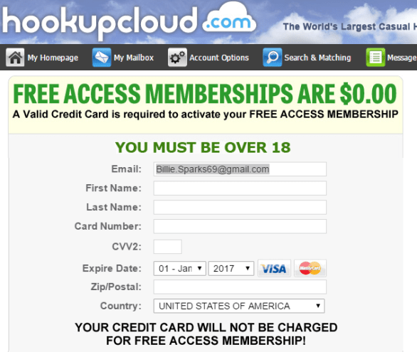 Hookup Cloud credit card preauthorization
