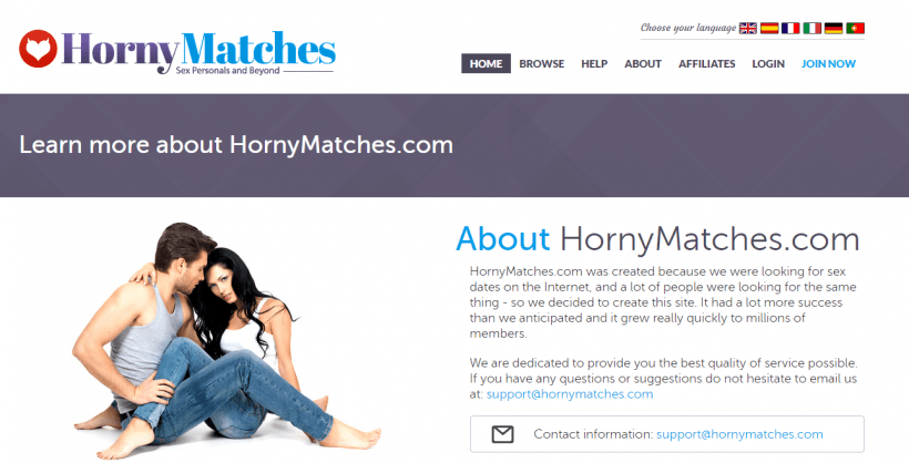 HornyMatches.com screencap