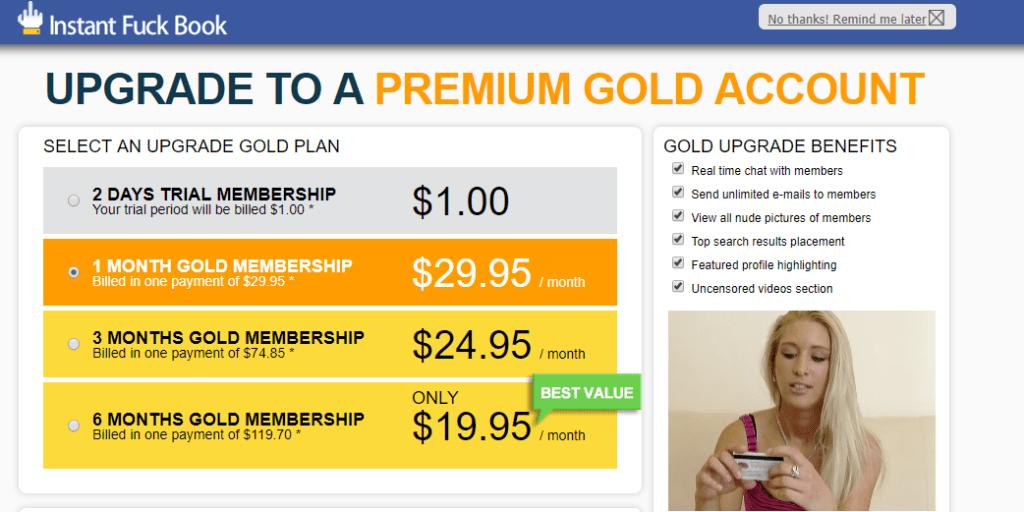 Instant Fuckbook premium account