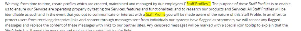 staff profiles terms