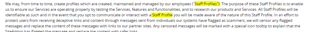 staff profiles terms