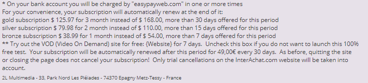 So Cougar real fees