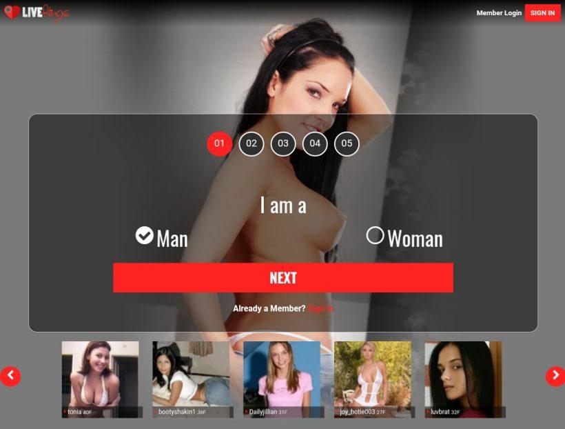 LiveFlings.com screenshot