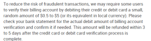Cheeky Lovers credit card verification