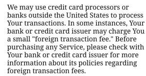 Naughty flings transaction fees