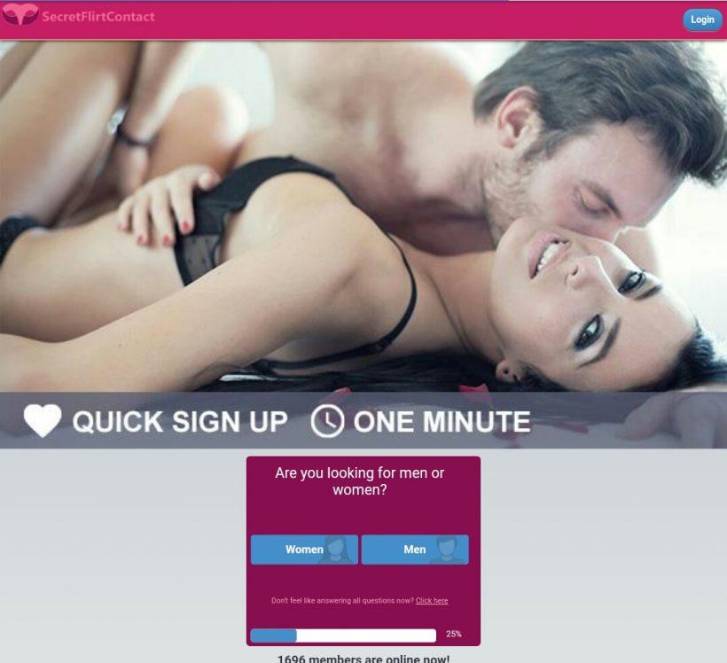 SecretFlirtContact.com screencap