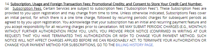 heated affairs fees page