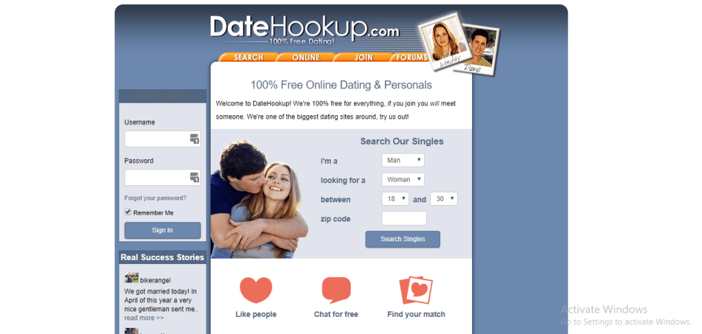 DateHookup.com screencap