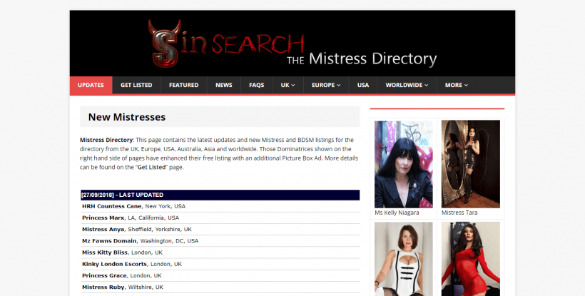Sin Search review screenshot