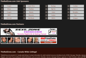 The Red Zone partners, sponsors, and wide listings