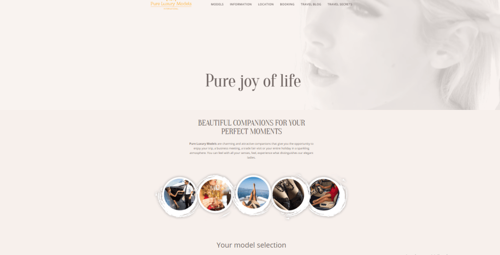Pure-Luxury-Models.com screenshot