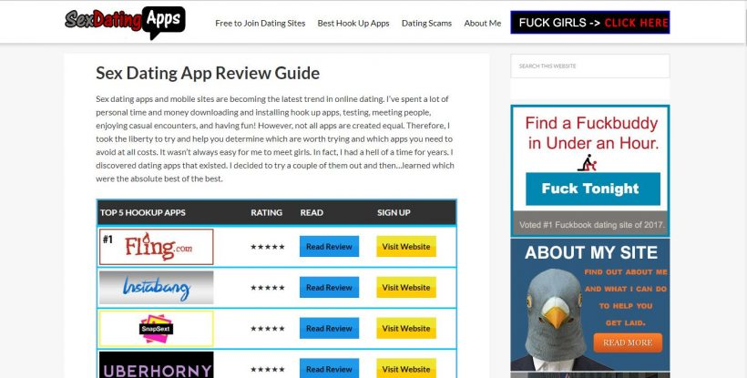 SexDatingApps Review home page