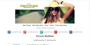 Certified Dating Sites review home page