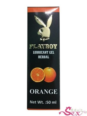 Playboy Lubricant Water Based Gel – Orange Flavoured - adultsextoy.in