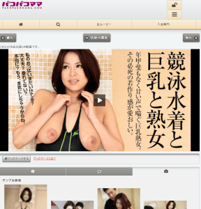 Screen shot of PacoPacoMama mobile site 2