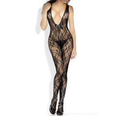 Fantasy Lingerie Desire Hosiery Floral Lace Bodystocking