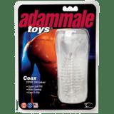Topco Sales Adam Male Toys Coax TPR Stroker, Clear