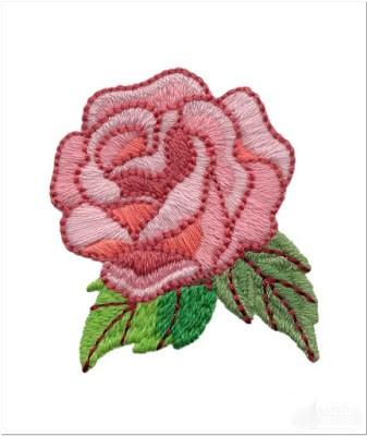 Bordir Bunga Mawar Cantik