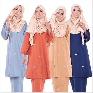 Model Baju Kurung Melayu Modern Sederhana