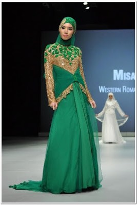 Model Baju Pesta Renda Cantik Muslimah Modern