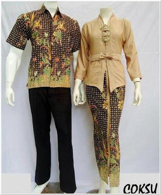 Kebaya Kutubaru Couple Bahan Kain Batik