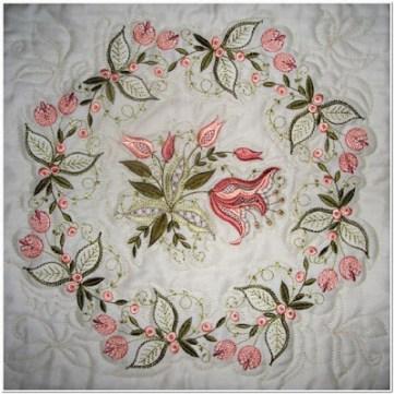 Motif bordiran Cantik Untuk taplak meja