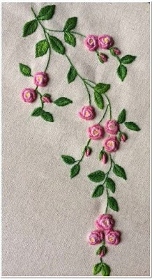 Gambar Bordiran Bunga Kecil