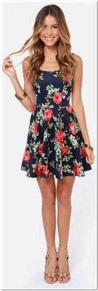 Aneka dress pendek motif bunga